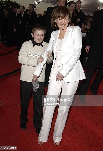 Laura Innes son during 28th Annual People's Choice Awards Arrivals at Pasadena Civic Auditorium in Pasadena California United States