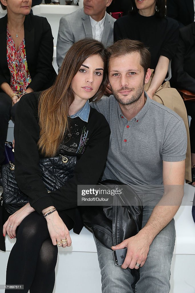 Laura Isaaz and <a gi-track='captionPersonalityLinkClicked' href=/galleries/search?phrase=Nicolas+Duvauchelle&family=editorial&specificpeople=3029663 ng-click='$event.stopPropagation()'>Nicolas Duvauchelle</a> attend Dior Homme Menswear Spring/Summer 2014 show as part of Paris Fashion Week on June 29, 2013 in Paris, France.