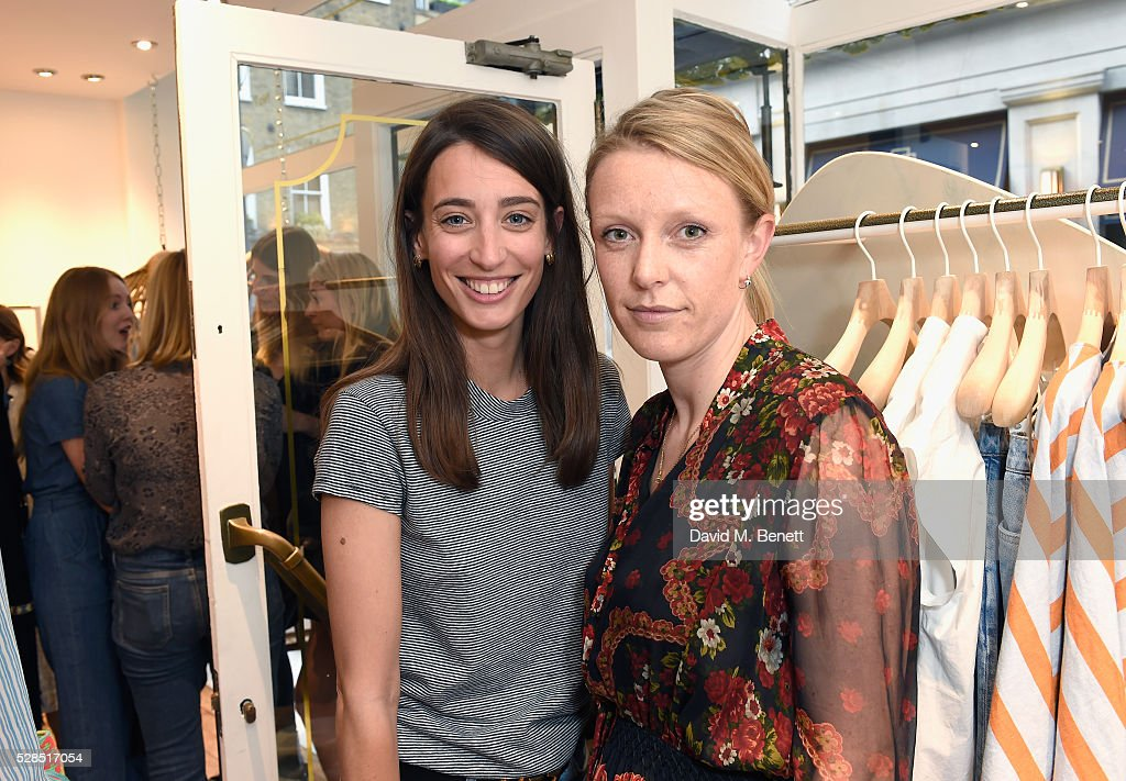 Laura Jackson and Clara Mercer attend Mih Jeans' 10th Anniversary Celebration at their popup concept store on Upper James Street on May 5 2016 in...
