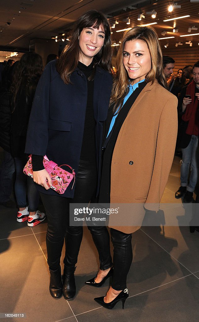 Laura Jackson and Zoe Hardman attend the Calvin Klein Jeans launch party at their Regent Street store on February 18, 2013 in London, England.
