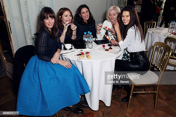 Laura Jackson Angela Scanlon Tallulah Harlech Portia Freeman and Sarah Ann Macklin attends the Pringle of Scotland Autumn/Winter presentation at The...