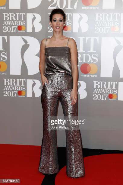 Laura Jackson attends The BRIT Awards 2017 at The O2 Arena on February 22 2017 in London England