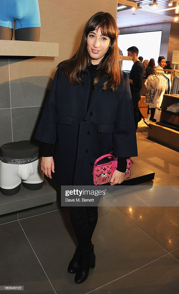 Laura Jackson attends the Calvin Klein Jeans launch party at their Regent Street store on February 18, 2013 in London, England.