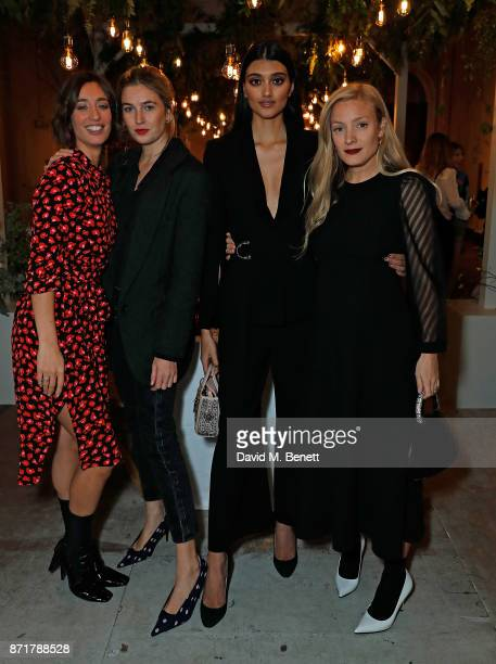 Laura Jackson Camille Charrire NEELAM GILL and Kate Foley attend the launch dinner of Label/Mix cohosted by Laura Jackson at Somerset House on...