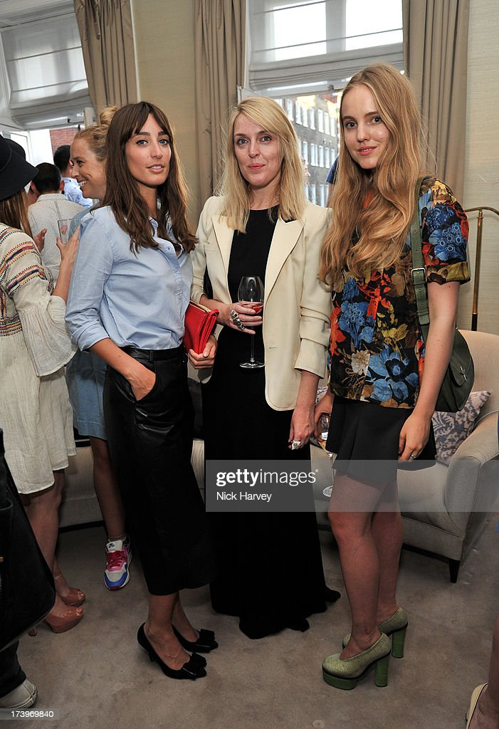Laura Jackson, Jen Carey and Alexandra Carl attend MATCHESFASHION.COM Partners With Rika On 'Iron Girl' Project For Rika Magazine on July 18, 2013 in London, England.