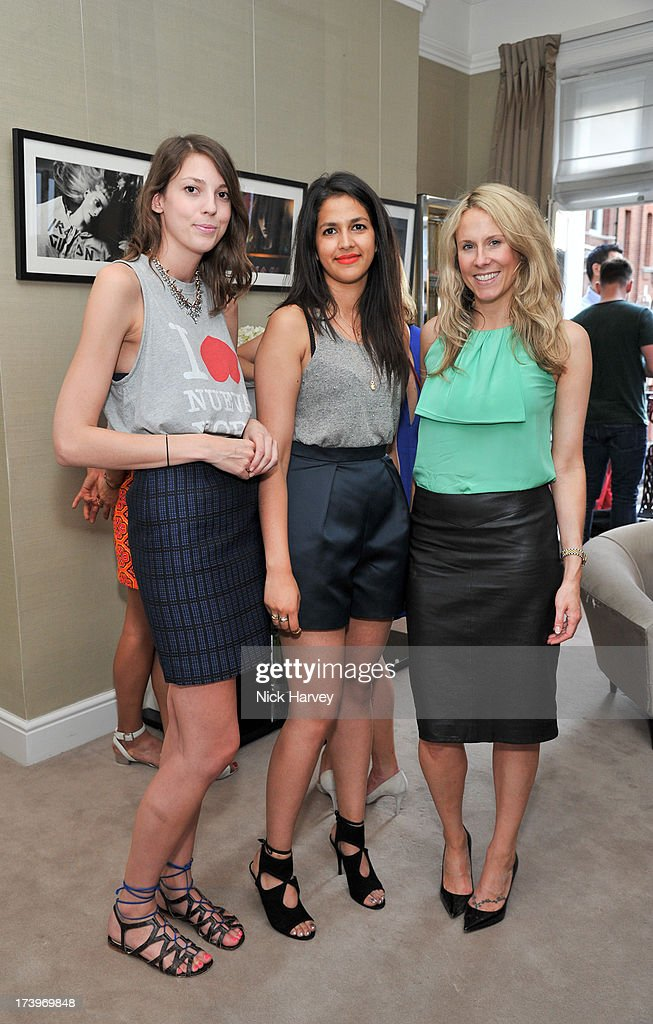 Laura Jackson, Laura Mistry and Holly Rosenberg attend MATCHESFASHION.COM Partners With Rika On 'Iron Girl' Project For Rika Magazine on July 18, 2013 in London, England.