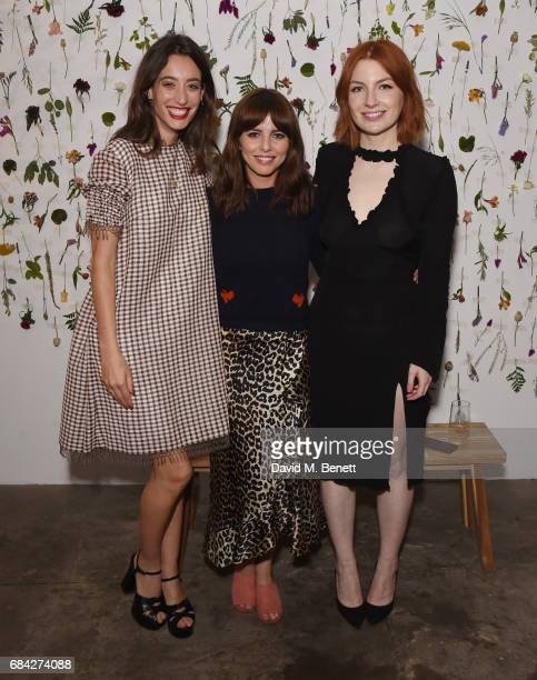 Laura Jackson Ophelia Lovibond and Alice Levine attend the launch of new book 'Jackson Levine Round To Ours' by Laura Jackson and Alice Levine at...