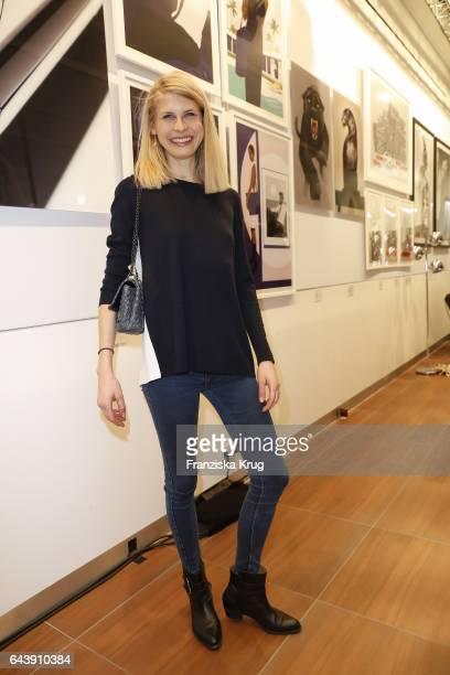 Laura Janson attends the Jaguar X Juniqe Art Salon opening on February 22 2017 in Munich Germany