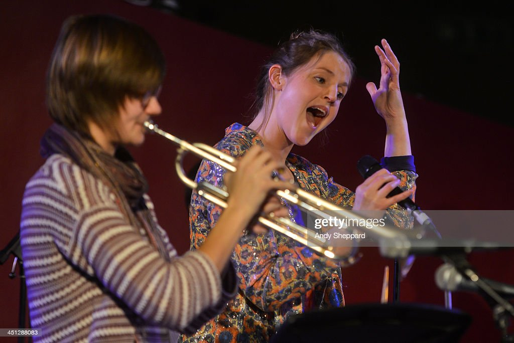 Laura Jurd and Lauren Kinsella perform on stage at the South Bank Centre during day 7 of London Jazz Festival 2013 on November 21, 2013 in London, United Kingdom.