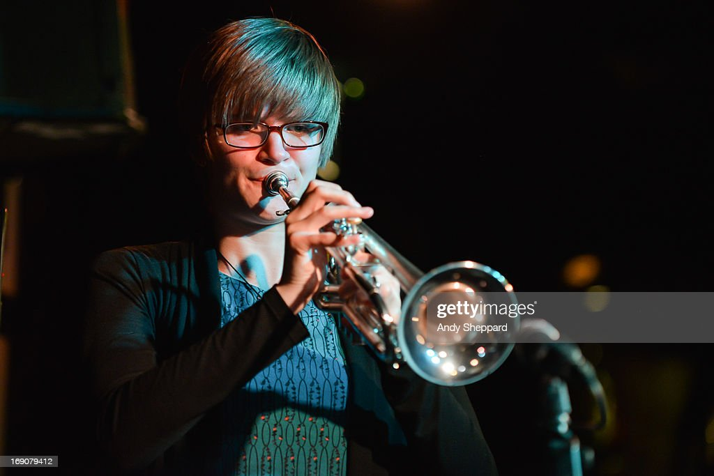 Laura Jurd of Laura Jurd Quartet performs on stage at Pizza Express Jazz Club on May 19, 2013 in London, England.
