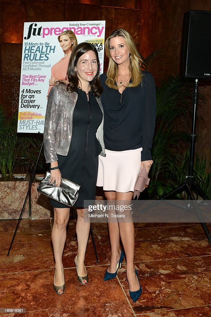 Laura Kalehoff and Ivanka Trump attend the Fit Pregnancy Ivanka Trump Cover Party at Trump Tower Atrium on September 17, 2013 in New York City.