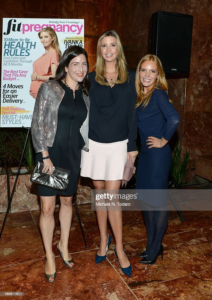 Laura Kalehoff, <a gi-track='captionPersonalityLinkClicked' href=/galleries/search?phrase=Ivanka+Trump&family=editorial&specificpeople=159375 ng-click='$event.stopPropagation()'>Ivanka Trump</a> and Tara Kraft attend the Fit Pregnancy <a gi-track='captionPersonalityLinkClicked' href=/galleries/search?phrase=Ivanka+Trump&family=editorial&specificpeople=159375 ng-click='$event.stopPropagation()'>Ivanka Trump</a> Cover Party at Trump Tower Atrium on September 17, 2013 in New York City.