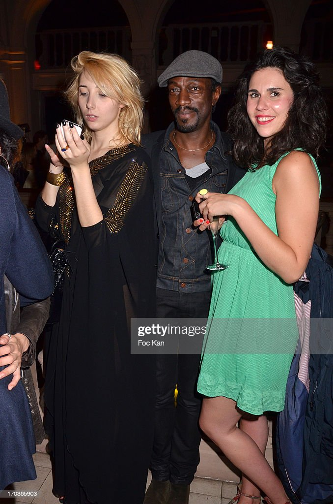 Laura Kaliste Arighi, Marco Prince and a guest attend the 'Battle Rock' Party At The Trianon Theatre on June 11, 2013 in Paris, France.