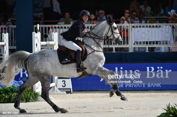 Laura Kraut of USA riding Confu during the Longines Grand Prix Athina Onassis Horse Show on June 3 2017 in St Tropez France