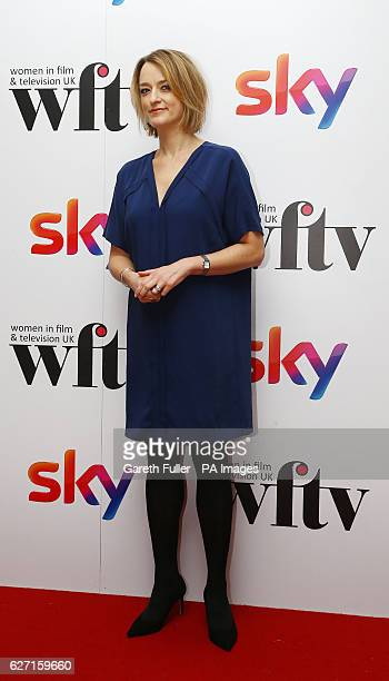 Laura Kuenssberg arrive at the Women in Film amp TV Awards at the Hilton hotel in central London