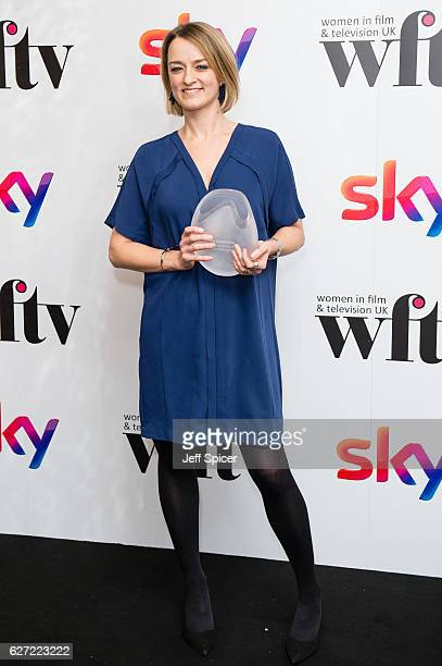Laura Kuenssberg winner of the News and Factual Award at the Sky Women In Film TV Awards at London Hilton on December 2 2016 in London England