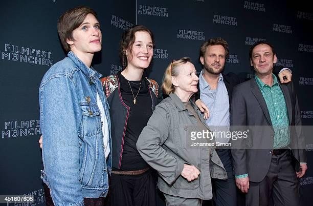 Laura Lauzemis Vicky Krieps Christine Schorn Ingo Haeb and Christian Aumer attend the 'Das Zimmermaedchen Lynn' premiere as part of Filmfest Muenchen...