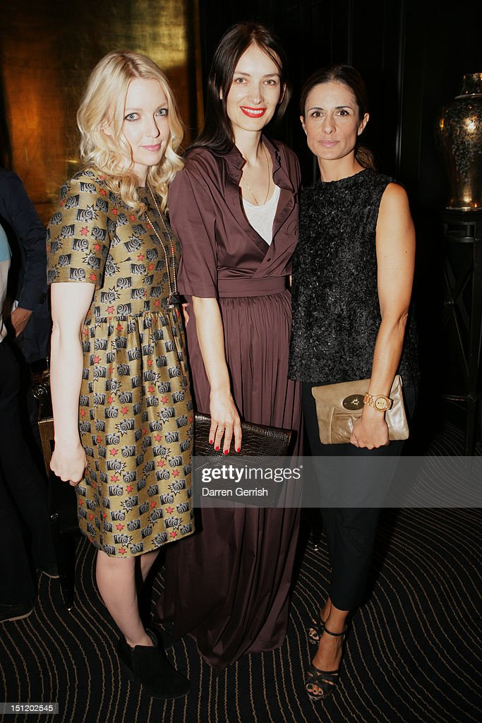 Laura Laverne, Roksanda Ilincic and Livia Firth attends the nominees party for The British Fashion Awards on September 3, 2012 in London, England.
