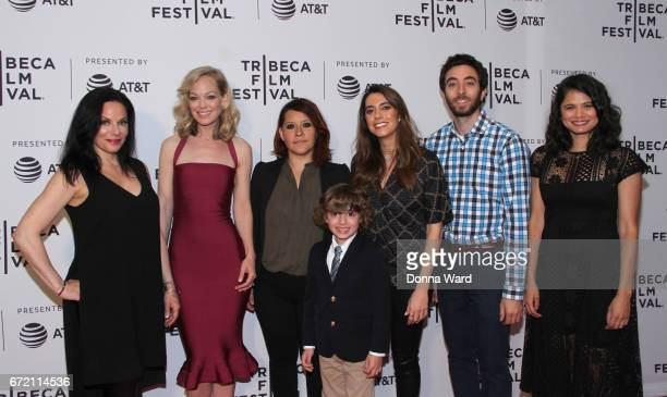 Laura Lee Botsacos Abby Wathen Valeria Lopez Peter Thompson Haroula Rose Alex Coffey and Melonie Diaz attend Tribeca TV Pilot Season 'Lost and Found'...