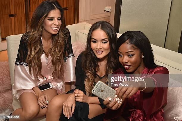 Laura Lee Maryam Maquillage and Cydnee Black attend MAC Cosmetics Mariah Carey Beauty Icon Launch at Baccarat Hotel on December 3 2016 in New York...