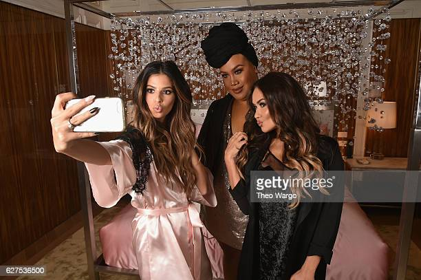 Laura Lee PatrickStarrr and Maryam Maquillage attend MAC Cosmetics Mariah Carey Beauty Icon Launch at Baccarat Hotel on December 3 2016 in New York...