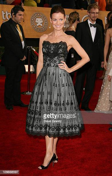 Laura Leighton 12864_SG_0924jpg during TNT/TBS Broadcasts 13th Annual Screen Actors Guild Awards Arrivals at Shrine Auditorium in Los Angeles...