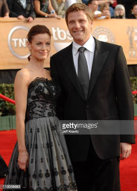 Laura Leighton and Doug Savant during 13th Annual Screen Actors Guild Awards Arrivals at Shrine Auditorium in Los Angeles California United States
