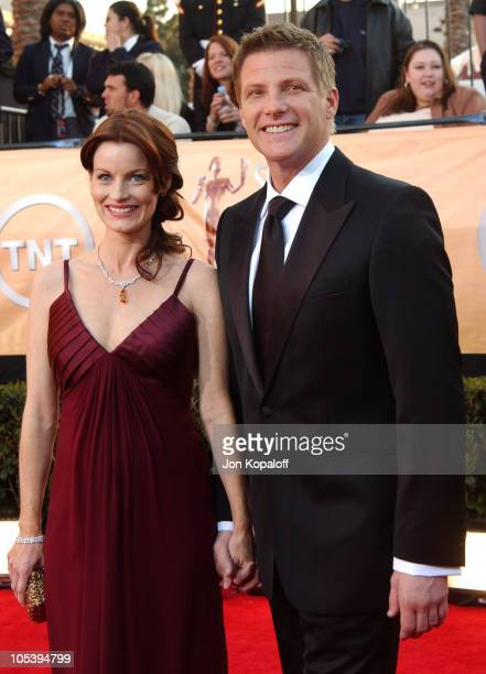 Laura Leighton and husband Doug Savant during 2005 Screen Actors Guild Awards Arrivals at The Shrine in Los Angeles California United States