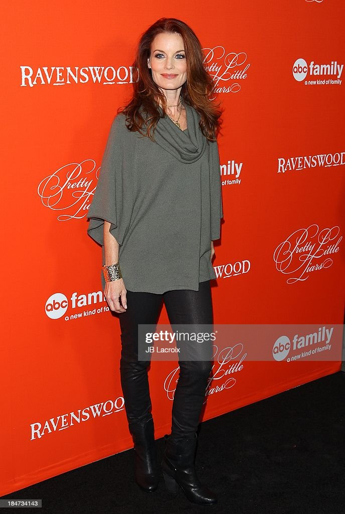<a gi-track='captionPersonalityLinkClicked' href=/galleries/search?phrase=Laura+Leighton&family=editorial&specificpeople=228022 ng-click='$event.stopPropagation()'>Laura Leighton</a> attends the 'Pretty Little Liars' Special Halloween Episode Premiere Party held at Hollywood Forever on October 15, 2013 in Hollywood, California.