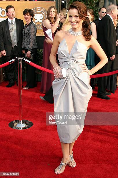 Laura Leighton during 12th Annual Screen Actors Guild Awards Arrivals at Shrine Expo Hall in Los Angeles CA United States