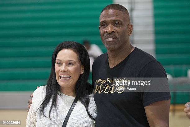 Laura Levy and Dwayne Wade Sr at the Propops Foundation Fathers Day Weekend on June 18 2016 in Miami Florida