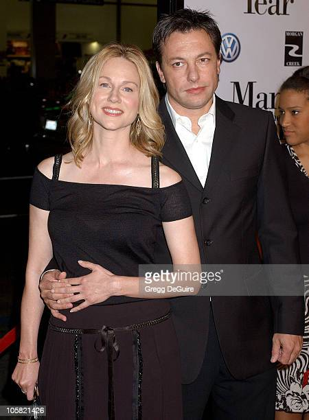 Laura Linney and guest during 'Man of the Year' World Premiere Arrivals at Grauman's Chinese Theatre in Hollywood California United States