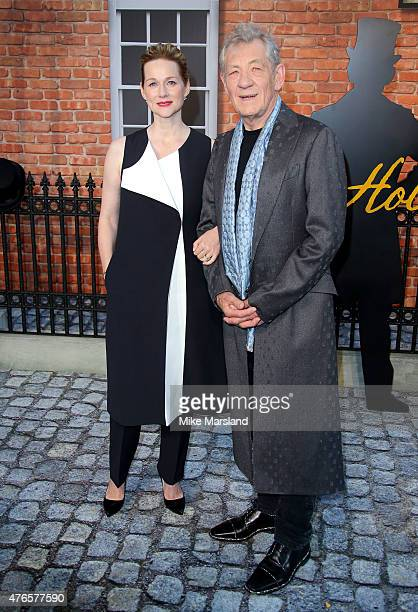 Laura Linney and Sir Ian Mckellen attend the UK Premiere of 'Mr Holmes' at ODEON Kensington on June 10 2015 in London England