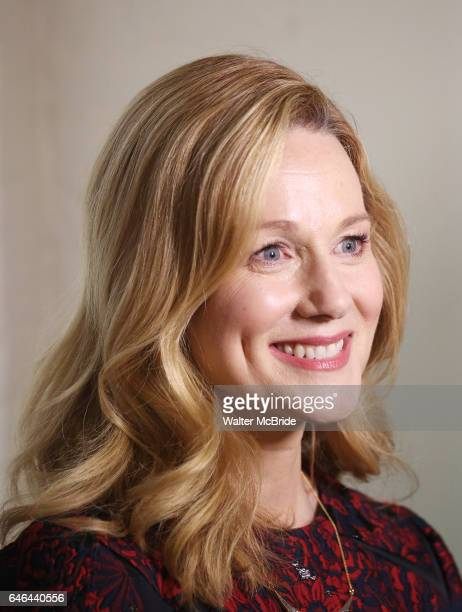 Laura Linney attends the cast photo call for the Manhattan Theatre Club's New Broadway Production of 'The Little Foxes' at the MTC Rehearsal studios...
