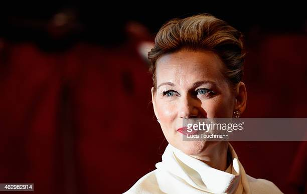 Laura Linney attends the 'Mr Holmes' premiere during the 65th Berlinale International Film Festival at Berlinale Palace on February 8 2015 in Berlin...