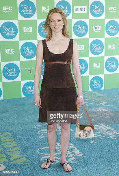 Laura Linney during 20th IFP Independent Spirit Awards Arrivals at Santa Monica Beach in Santa Monica California United States