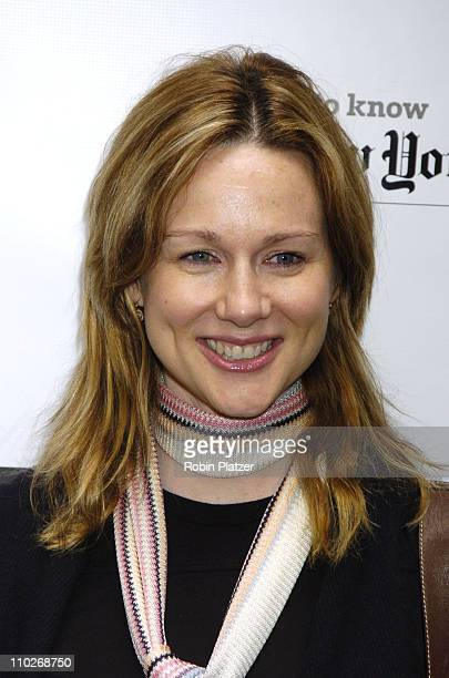 Laura Linney during Broadway Cares/Equity Fights AIDS 19th Annual Flea Market and Celebrity Autograph Table at The Patio at Bolzanos Bar in New York...