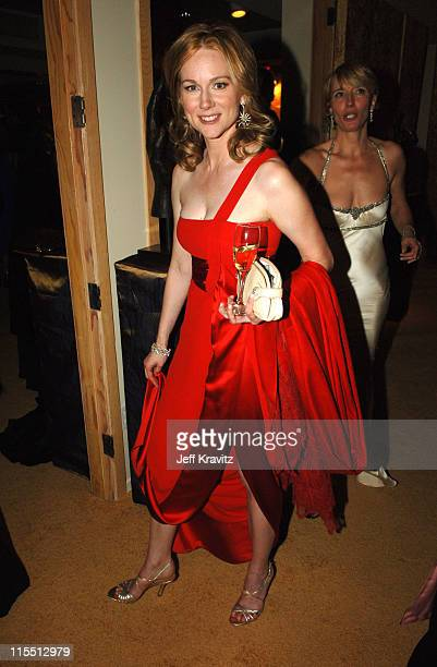 Laura Linney during HBO 2006 Golden Globes After Party Inside at Aqua Star Pool at the Beverly Hilton Hotel in Beverly Hills California United States