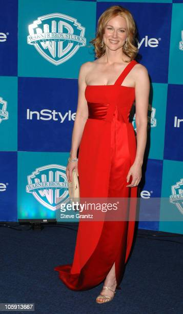 Laura Linney during InStyle Warner Bros 2006 Golden Globes After Party Arrivals at Beverly Hilton in Beverly Hills California United States