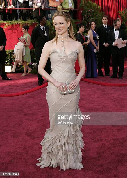 Laura Linney during The 77th Annual Academy Awards Arrivals at Kodak Theatre in Los Angeles California United States