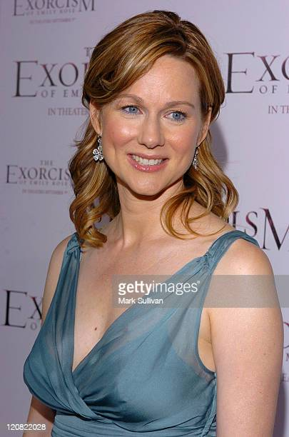 Laura Linney during 'The Exorcism of Emily Rose' Los Angeles Premiere Arrivals in Los Angeles California United States