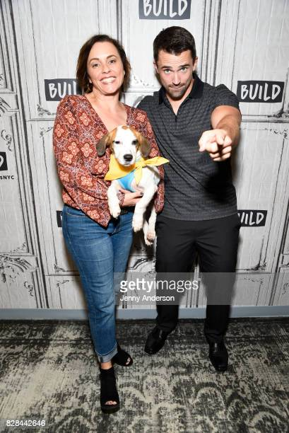 Laura London and Nate Schoemer attend AOL Build Series to discuss their new series 'Rescue Dog to Super Dog' at Build Studio on August 9 2017 in New...