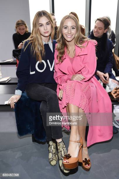 Laura Love and Harley VieraNewton attend the Michael Kors Collection Fall 2017 runway show at Spring Studios on February 15 2017 in New York City