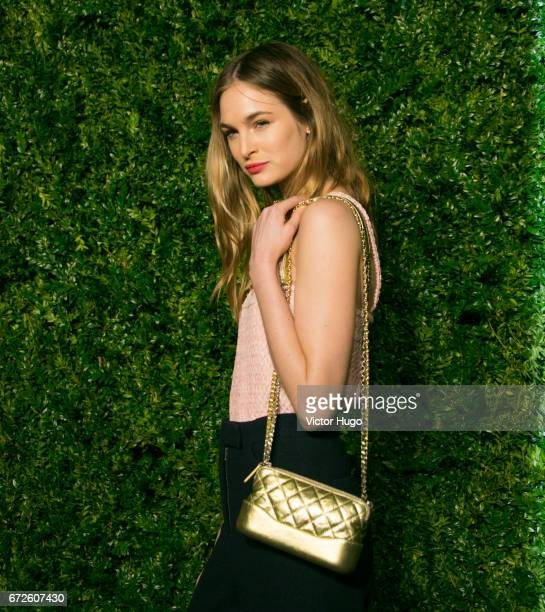 Laura Love attends CHANEL Tribeca Artists Dinner at Balthazer on April 24 2017 in New York City
