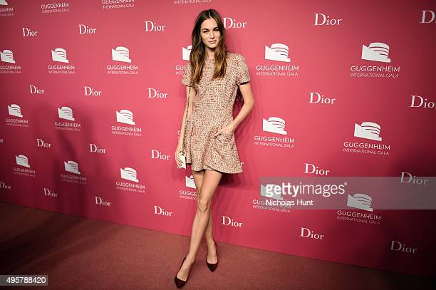 Laura Love attends the 2015 Guggenheim International Gala PreParty made possible by Dior at Solomon R Guggenheim Museum on November 4 2015 in New...