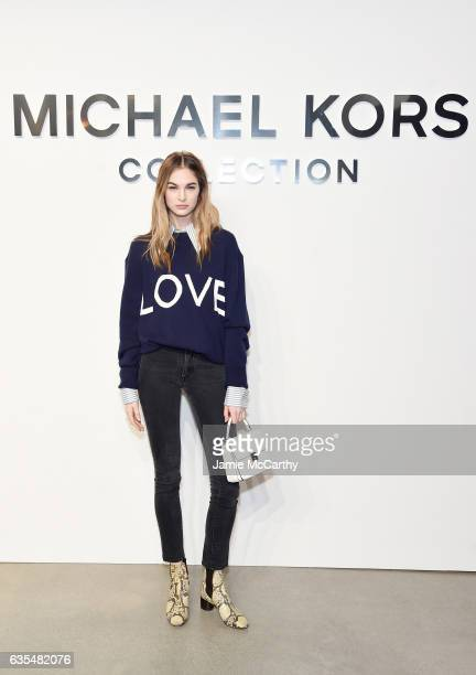 Laura Love attends the Michael Kors Collection Fall 2017 runway show at Spring Studios on February 15 2017 in New York City