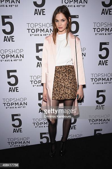 Laura Love attends the Topshop Topman New York City flagship opening dinner at Grand Central Terminal on November 4 2014 in New York City