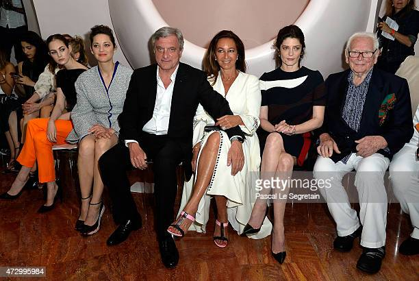 Laura Love Marion Cotillard Sidney Toledano guest Chiara Mastroiani and Pierre Cardin attend the Dior Croisiere 2016 at Palais Bulle on May 11 2015...