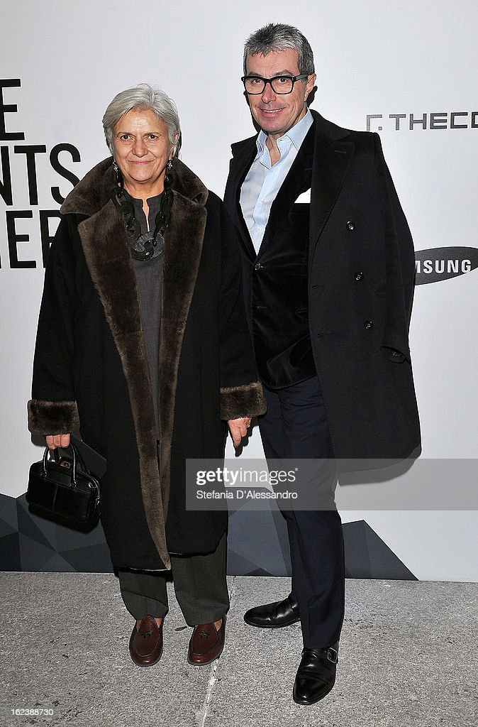 Laura Lusuardi and Giorgio Guidotti attend The Vogue Talent's Corner held at Palazzo Morando during Milan Fashion Week Womenswear Fall/Winter 2013/14 on February 22, 2013 in Milan, Italy.
