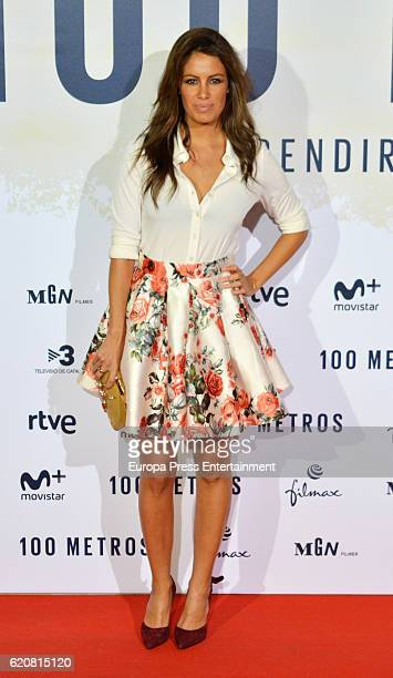 Laura Madrueno attends '100 Metros' premiere at Capitol cinema on November 2 2016 in Madrid Spain